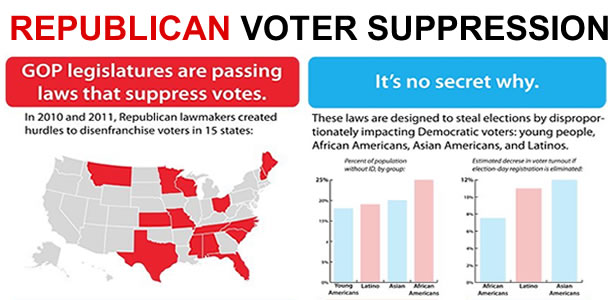 REPUBLICAN VOTER SUPPRESSION