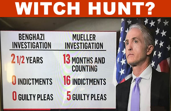 "Image result for Is Mueller's investigation a ""witch hunt""?"